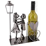 Preis am Stiel Metall-Flaschenhalter Liebespaar | Metall-Skulptur | Flaschenständer | Wohnaccessoire | Dekoration | Geschenk für Freunde | ausgefallenes Geschenk | Hingucker | Weinflaschenhalter