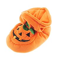 Super Cute Baby Boys Girls Pram Padders Booties Slippers Orange Halloween Thanksgiving Scary Pumpkin