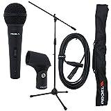 immagine prodotto Proel PSE3 Kit Microfono DM800 + Asta RMS180 + Cavo Microfonico + Supporto Microfonico APM20 + Borsa