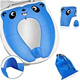 Riduttore WC per bambini, vasino portatile, adattatore WC per bambini, sedile WC per bambini, sedile WC per bambini, con bors