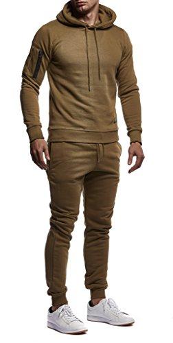 ba7ea546ac46 LEIF NELSON Herren Jogginganzug Trainingsanzug Sportanzug Freizeitanzug  Fitness T-Shirt Stringer Hose Bekleidung LN8021