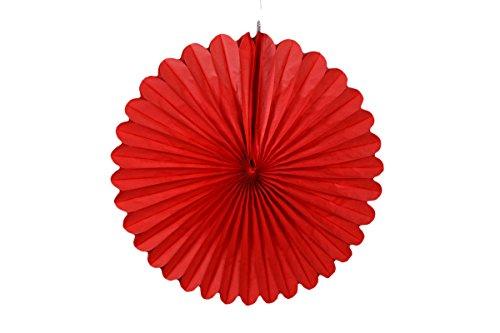 Takoy 10 Stück Papier Rosette 40cm rot Papierrosette hängende Party Deko Girlande Rot Rosette