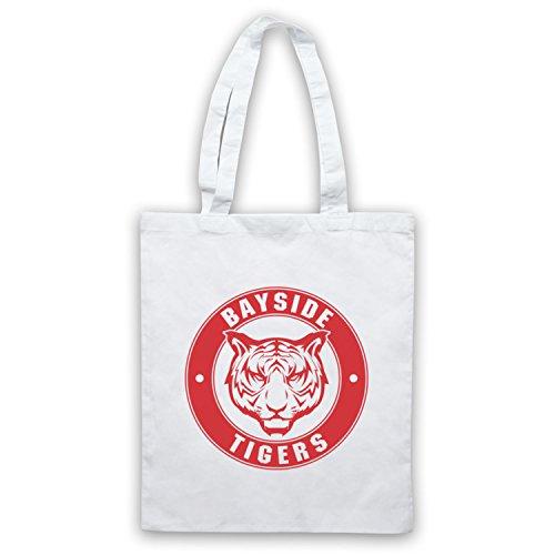 Inspiriert durch Saved By The Bell Bayside Tigers Inoffiziell Umhangetaschen, Weis (Bayside Bell Tigers)