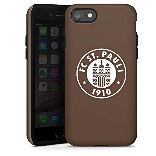 Apple iPhone 7 Hülle Case Handyhülle FC St. Pauli Fanartikel Fußball Tough Case glänzend
