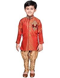 Desi Sarees Jungen 2 Stück Set Indo Western Sherwani Pyjama EB 950