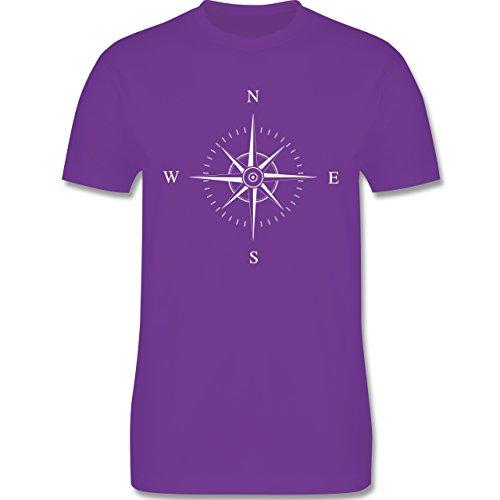 Statement Shirts - Kompassrose - Herren Premium T-Shirt Lila