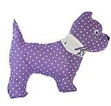 Handmade Design - Lavendelkissen - Duftkissen - Zierkissen - mit echtem Lavendel (Hund - Lila, 19 x 23 cm)