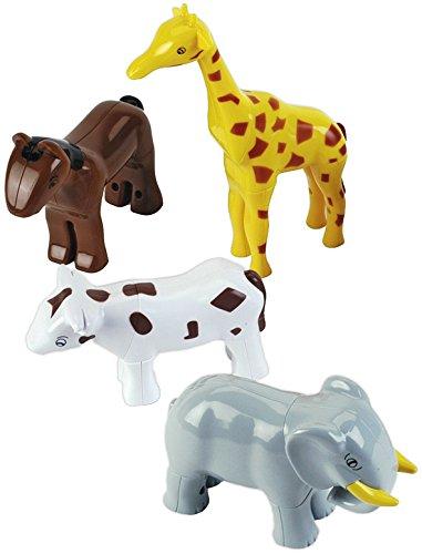 Klein - 0071 - Puzzle 3D - 4 animaux magnétiques Funny Puzzle, sous sachet