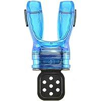 GCDN Boquilla Regulador Confort Moldeable con Equipo de Envoltura de Corbata Equipo de Buceo con respiración subacuática Snorkel práctico Mordida de Silicona para Adultos Buceo(Azul)