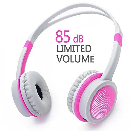 Futureway Wired 85dB Volumen Einzuschränken Kids Kopfhörer mit Abnehmbare 3,5 mm Audio Kabel - Verstellbare Stereo Kinder Kopfhörer für MP3 PC Tablet Smartphones iPod iPhone iPad