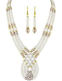 3 String Pearl Necklace Set