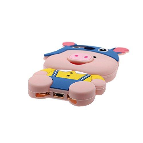 iPhone 7 Plus Custodia, Stitch + maiale Cartoon 3D Design Paraurti TPU morbido Case Silicone di gomma Shell Cover copertura per iPhone 7 Plus 5.5 pollici Anti-graffi antiurto, Pig * 3