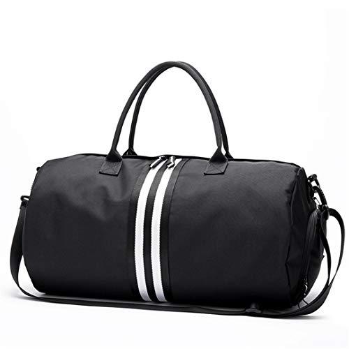 T weiblichen Sport Oxford Sporttasche für Schuhe Tasche Yoga Tasche Frauen Fitness handtaschen umhängetaschen L Black-Whtie