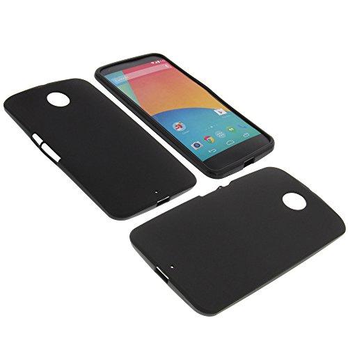 foto-kontor Tasche für Google Nexus 6 Gummi TPU Schutz Hülle Handytasche schwarz