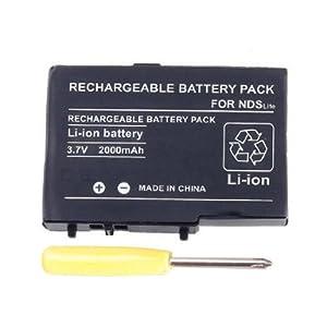 Generic 2000 mAh 3,7 V wiederaufladbarer Lithium-Ionen-Akku + Werkzeug-Set kompatibel für Nintendo DSL NDS Lite