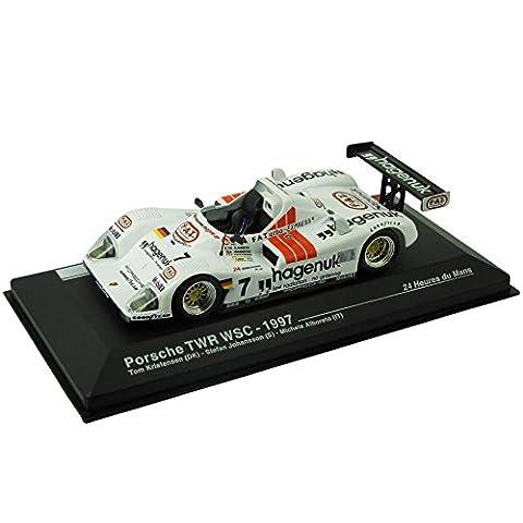 Modellauto Porsche TWR WSC - 24-Stunden-Rennen von Le Mans 1997 (1:43) - weiß