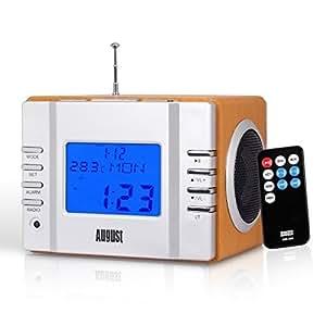 august mb300 radio r veil cube lecteur mp3 avec radio fm. Black Bedroom Furniture Sets. Home Design Ideas