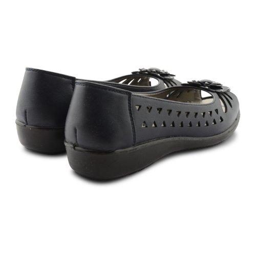 Chaussure Sensation, Mary Jane Femme Basse Noir Noir Noir (bleu)