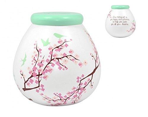 Pot Of Dreams-Blossom-Pot en céramique argent