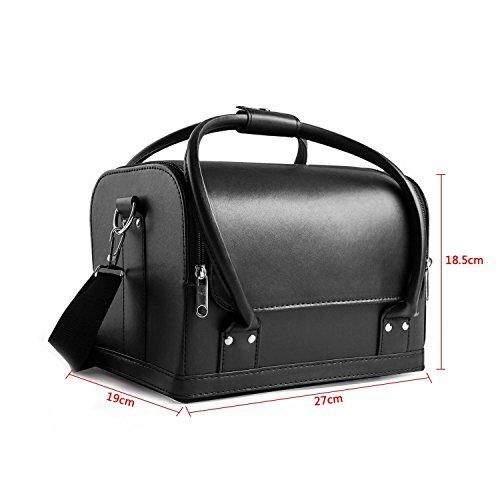 Zoom IMG-1 hbf borsa cosmetici nera in