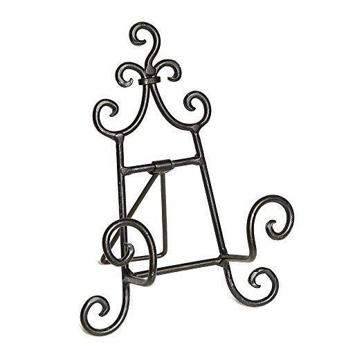 linoows Landhaus Tellerständer, Buchständer, Bilderständer aus Eisen, 19 cm
