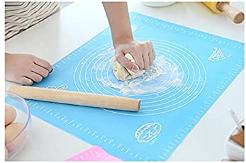 Inditradition Silicone Baking Sheet or Fondant Rolling Mat, Stretchable, 48x38cm, Multicolour