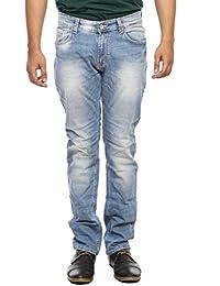 Spykar Mens Light Blue Slim Fit Low Rise Jeans (Rico)