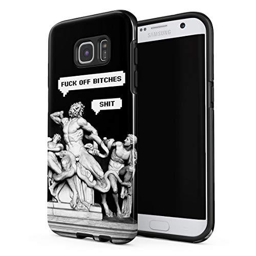 d15c2788216 Funda Para Samsung Galaxy S6 Edge Ancient Laocoon Sculpture Funny Speech  Bubble Fuck Off Biches,