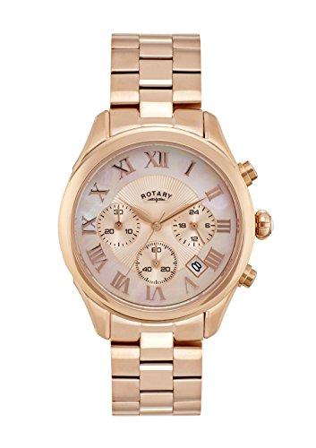 Rotary Damen Chronograph Quarz Uhr mit Edelstahl Armband LB007/C/25_Unico