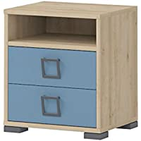 Kinderzimmer - Nachtkästchen Benjamin 07, Farbe: Buche / Blau - 50 x 44 x 37 cm (H x B x T) preisvergleich bei kinderzimmerdekopreise.eu