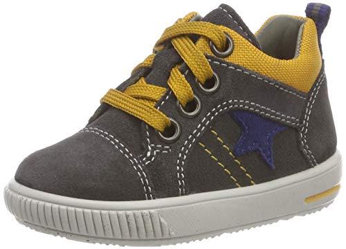 Superfit Baby Jungen Moppy Sneaker, Grau (Grau/Gelb 20), 22 EU