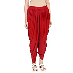 Fusion Beats Red Solid Dhoti XXL Size