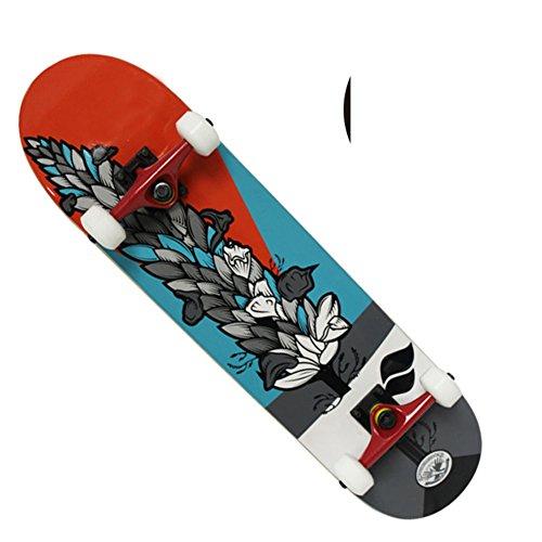 [skateboard]/Quattro-rullo carrello/Doppio bilanciere/4Turno di Scooter professionale/Adulti bambini skateboard/Spazzola strada viaggi Scooter-D
