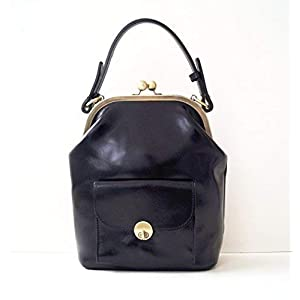 """Handtasche Leder""""Gwen"""" in schwarz"""