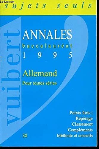 Annales baccalauréat, 1996 : Allemand - Corrigés
