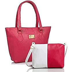 Shevanna Women's PU Leather Pink sheet handbags With Combo Slingbags