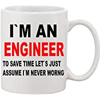 I'm an Engineer Cute Coffee Mug Ceramic Inspirational Gifts for Kids Women Girls Birthday Gifts