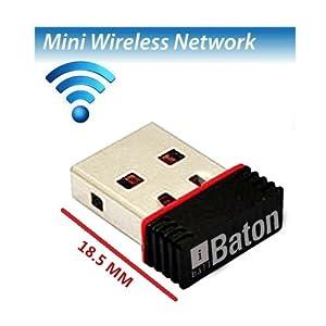 iBall Baton 150M Wireless-N Mini USB Adapter (iB-WUA 150NM), Black