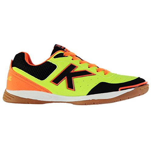 Kelme K Strong Indoor Court Hommes Chaussures Baskets Football Sport Sneakers Lime/Orange/Noir