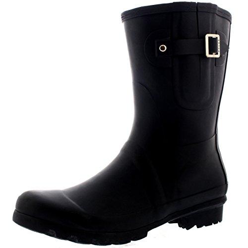 Polar Herren Short Adjustable Side Wasserdicht Gummi Schnee Regen Gummistiefel - Schwarz - UK11/EU45 - BL0232 Polar Shorts