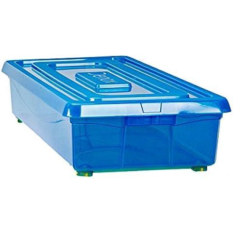 Denox Mundibox - Caja con ruedas, color azul