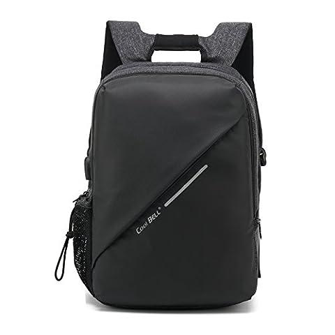 HXSS Wasserdichtes Laptop-Rucksack Wasserdicht Shockproof für Wanderreisen 15,6 Zoll (Schwarz1)