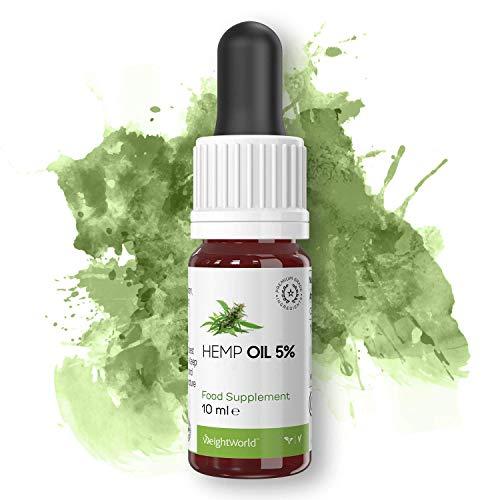 Hemp Oil - Aceite De Cáñamo Orgánico Altamente Concentrado - Suplemento Para El Bienestar - Reduce El Estrés, El Dolor y La Ansiedad - 10ml