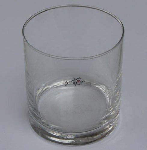 Glasvase CYLI Glas Vase Tischvase Blumenvase Zylinder 10 cm