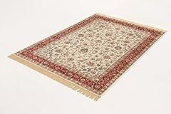 Idea Regalo - Viva Tappeti Farshian Tappeto Hereke 2, Viscosa, Avorio, 105x67x0.5 cm