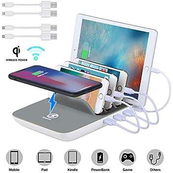 SATECHI Station de Charge USB 7-Port Compatible avec iPhone X, 8 Plus, 8, iPad Pro, Air, Mini