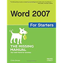 Word 2007 for Starters: The Missing Manual (Missing Manuals)