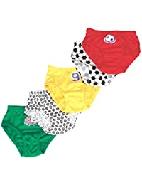 Mee Mee Soft & Comfortable Baby Boys' Briefs (Pack of 5) (6-12 Months, Assorted - Sporty Print)