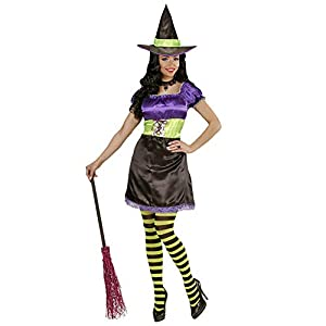 WIDMANN Disfraz de Bruja para Adulto, Vestido y el Sombrero