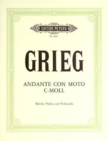 EDITION PETERS GRIEG EDVARD - ANDANTE CON MOTO IN C MINOR - PIANO TRIOS